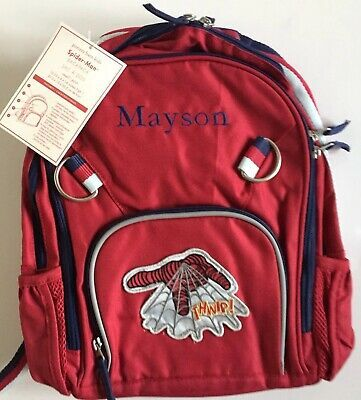 Pottery Barn Kids Spider Man Small Backpack Mayson New