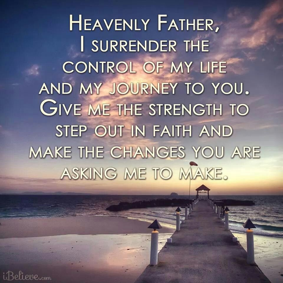 I surrender all. Encouragement for today, Faith