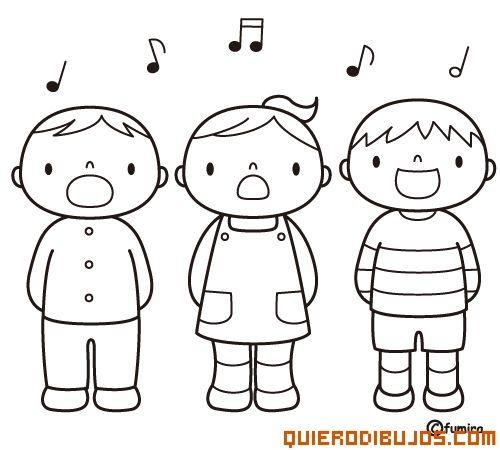 Niños cantando | Childhood Memories | Coloring for kids, Cartoon