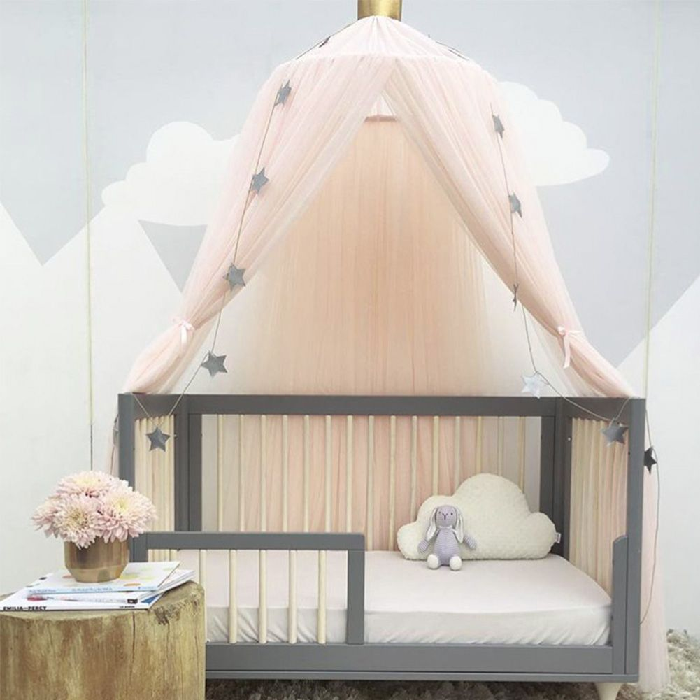 Kids Baby Bed Canopy Bedcover Mosquito Net Curtain Bedding Dome Tent Cotton New & Kids Baby Bed Canopy Bedcover Mosquito Net Curtain Bedding Dome ...