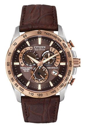 a71273f46 Citizen Eco-Drive Limited Edition Perpetual Chrono A-T AT4001-00X Atomic  Timekeeping | Gentleman Watches | Watches for men, Brown leather strap watch,  ...
