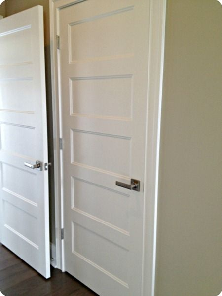 five panel doors with handles | Future Home Inspiration | Pinterest ...