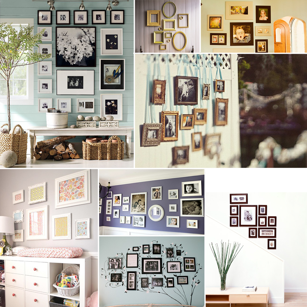 Hanging your photos | Things for My Wall | Pinterest | Bilderwand ...