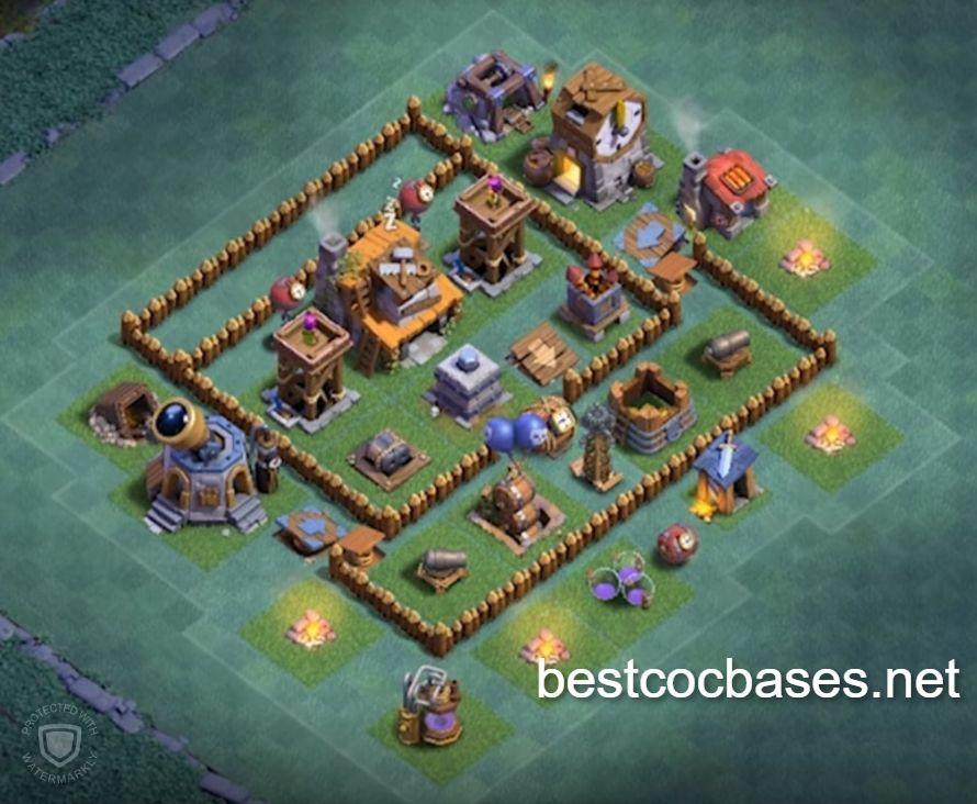 Clash Of Clans Builder Base Level 4 Layout Clash Of Clans Builder