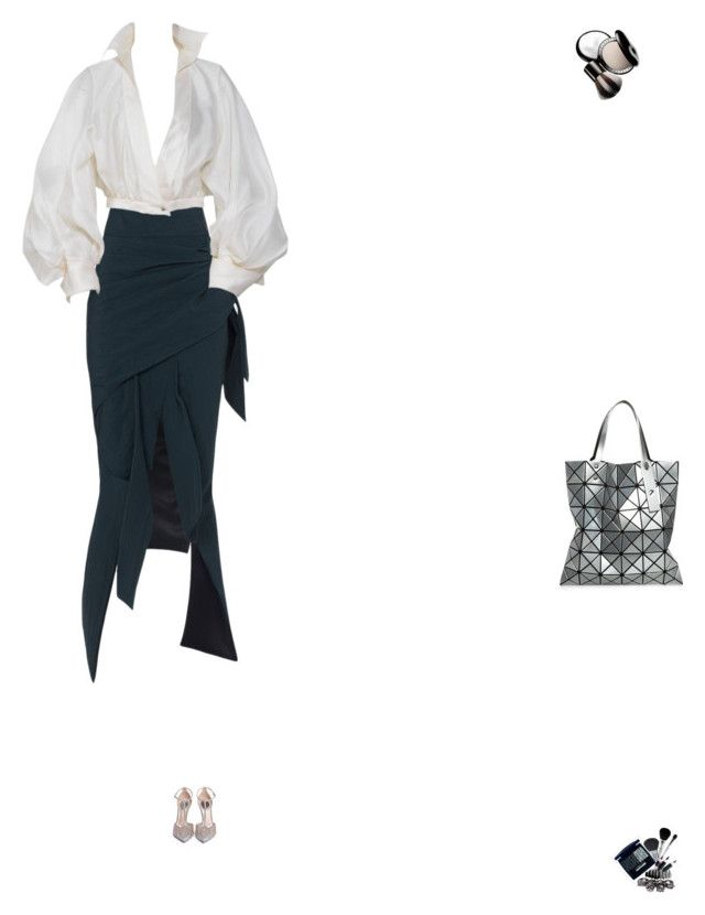 """Grace"" by zoechengrace on Polyvore featuring Maticevski, Claude Montana, Rene, Issey Miyake and Chantecaille"