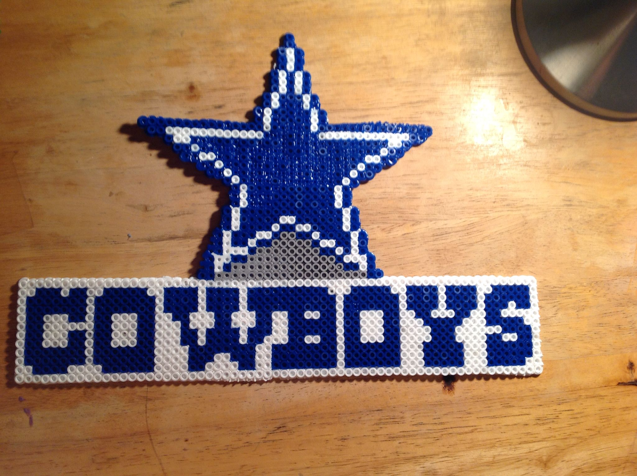 Perler bead dallas cowboys my perler bead creations for Dallas cowboys arts and crafts