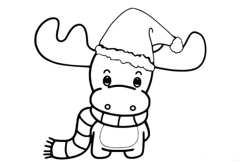 73bd39cda357437e76cd5993d3ea3d18 » Cute Reindeer Coloring Pages
