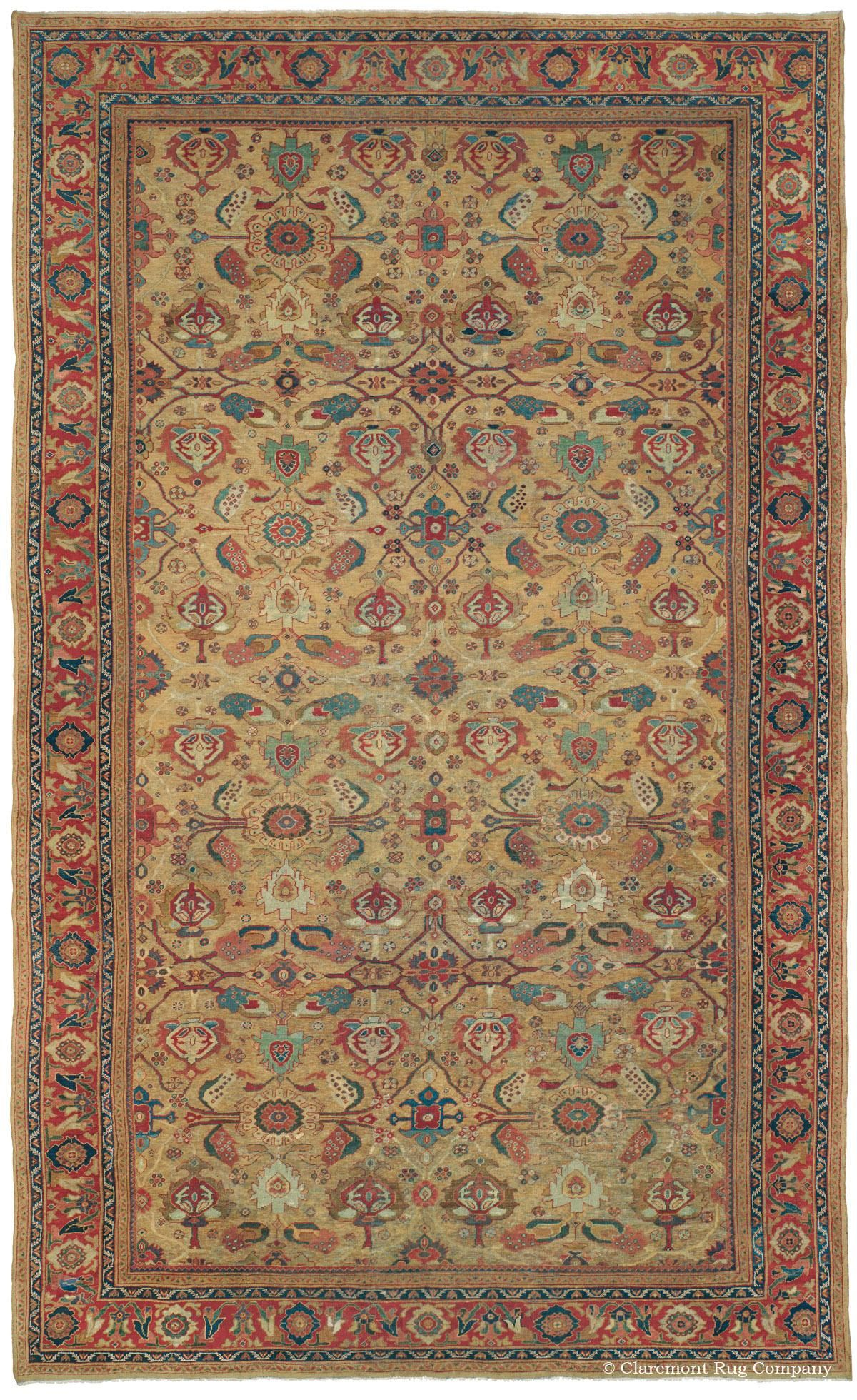 History Design Of Antique Sultanabad Carpets