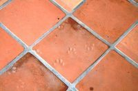 How To Remove Carpet Glue From Floor Tile Hunker Saltillo Tile Tile Floor Painting Concrete