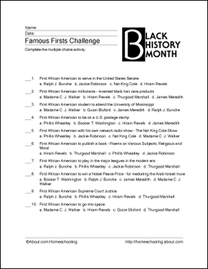 6 Printable Activities for Black History Month