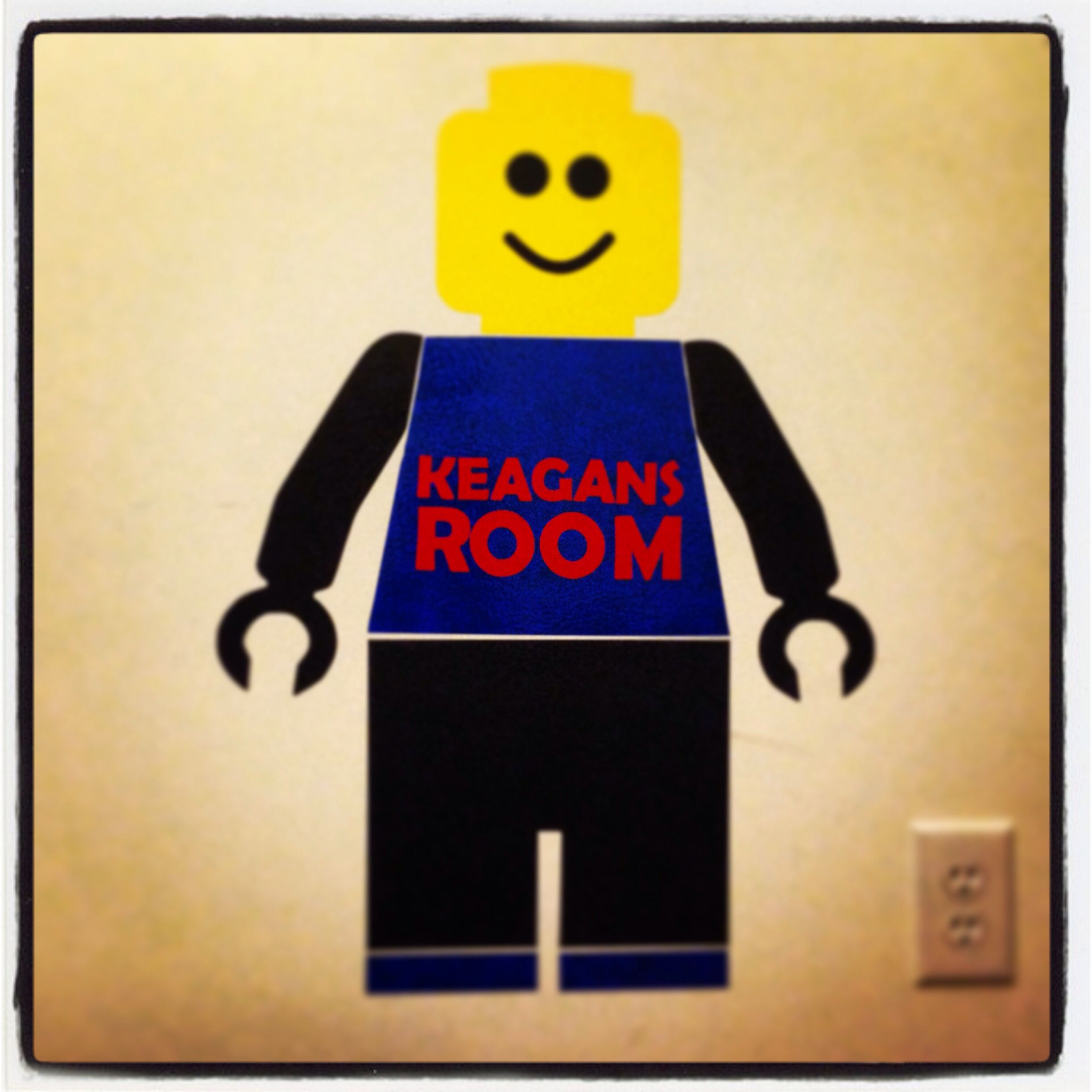 Chalkboard and vinyl boys room lego wall decor | For the Home ...