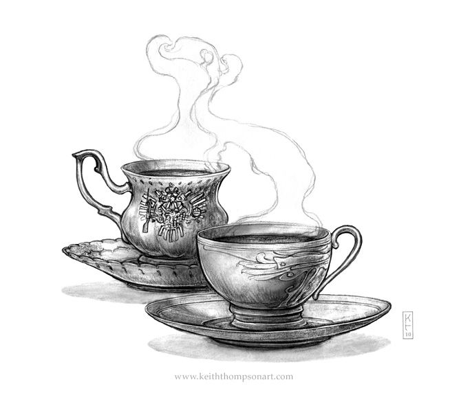 Behemoth: Tea Cups. Illustrated by Keith Thompson