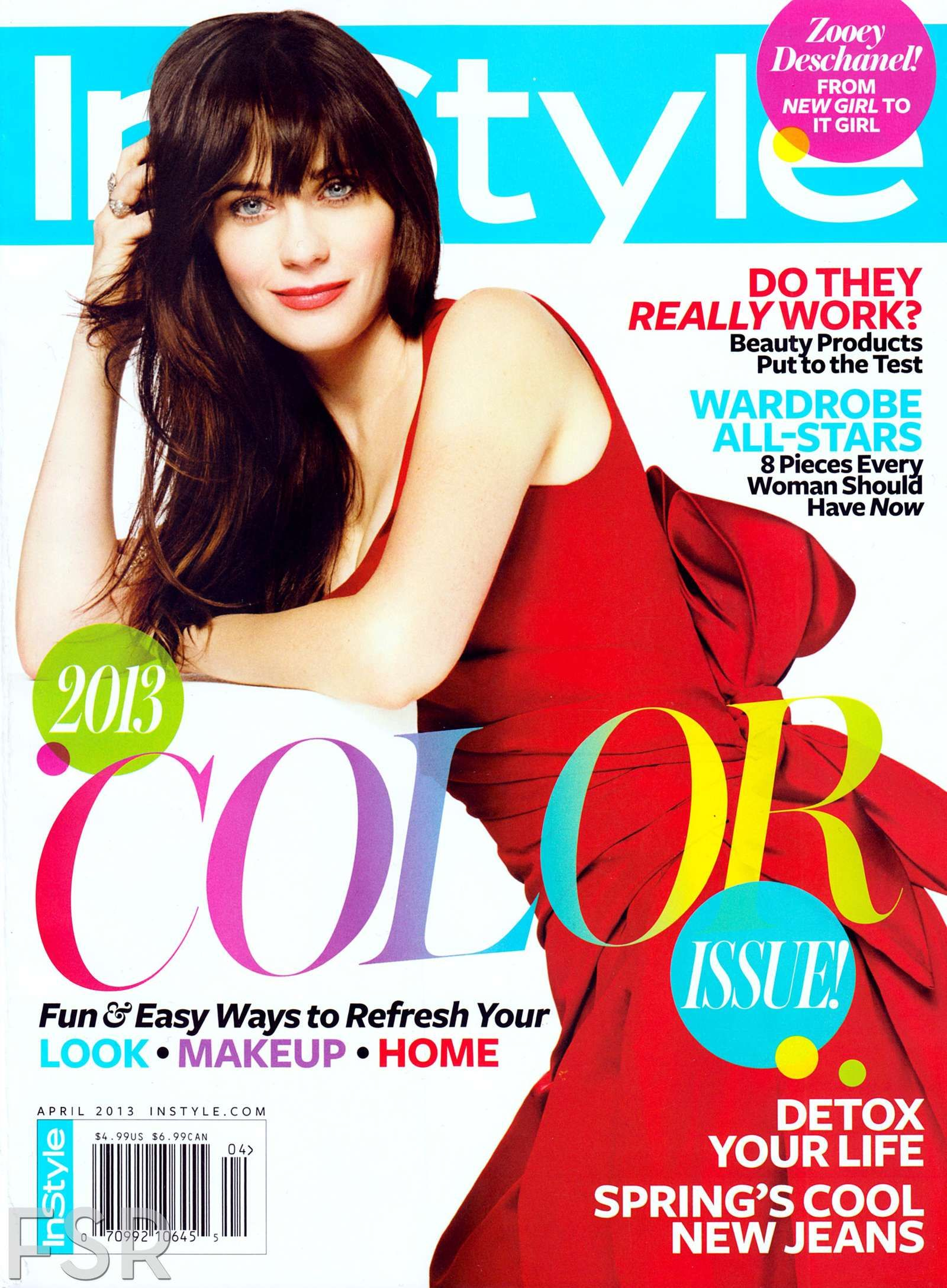 86071316a2f3f Next photo in Zooey Deschanel – Cover InStyle Magazine (April 2013 ...