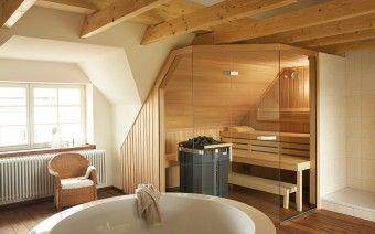 sauna premium in dachschr ge mit glasfront interiors pinterest dachschr ge saunas und b der. Black Bedroom Furniture Sets. Home Design Ideas