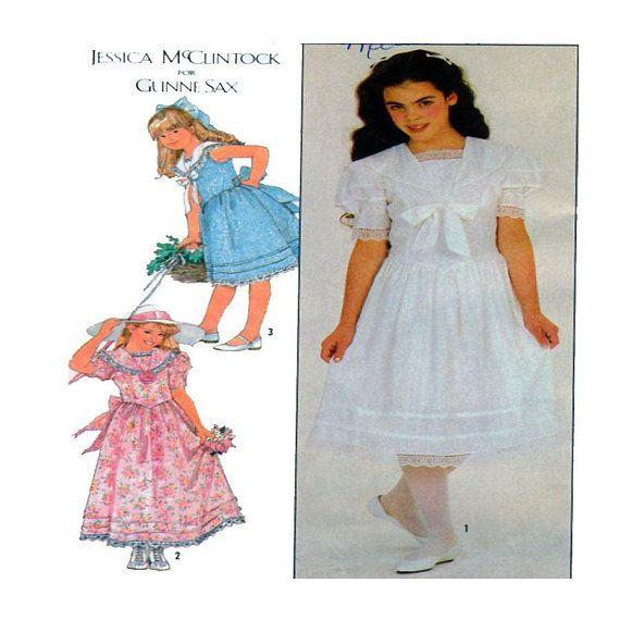 GUNNE SAX, Jessica McClintock, Victorian Style, Child, Dress, Sewing ...