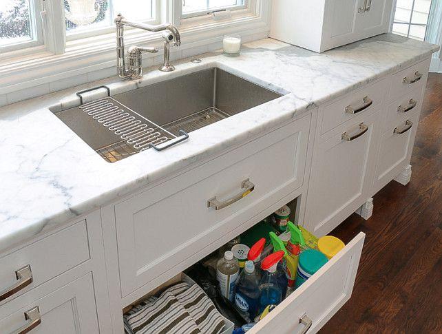 Kitchen Under Sink Storage Add Drawers Under The Kitchen Sink For