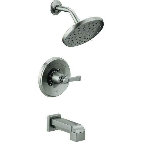 Delta® Emmett® One-Handle Tub and Shower Faucet in SpotShield™ Brushed Nickel