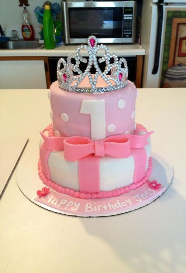 1st Birthday princess cake
