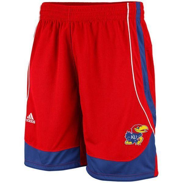 Kansas Jayhawks College Basketball Shorts NWT by Adidas Rock Chalk Big 12 NCAA