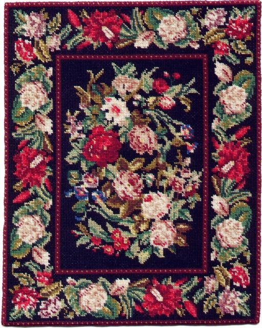 Janet Patacca Miniatures Needlepoint Rugs Carpets Dollhouse Dollhouses Cross