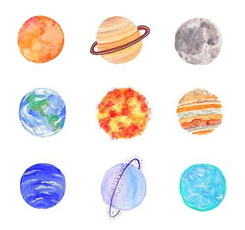 nine planets drawing - photo #9