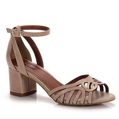 263af1a31 Sandália Salto Feminina Desmond - Nude … | sapatos | Sapatos ...