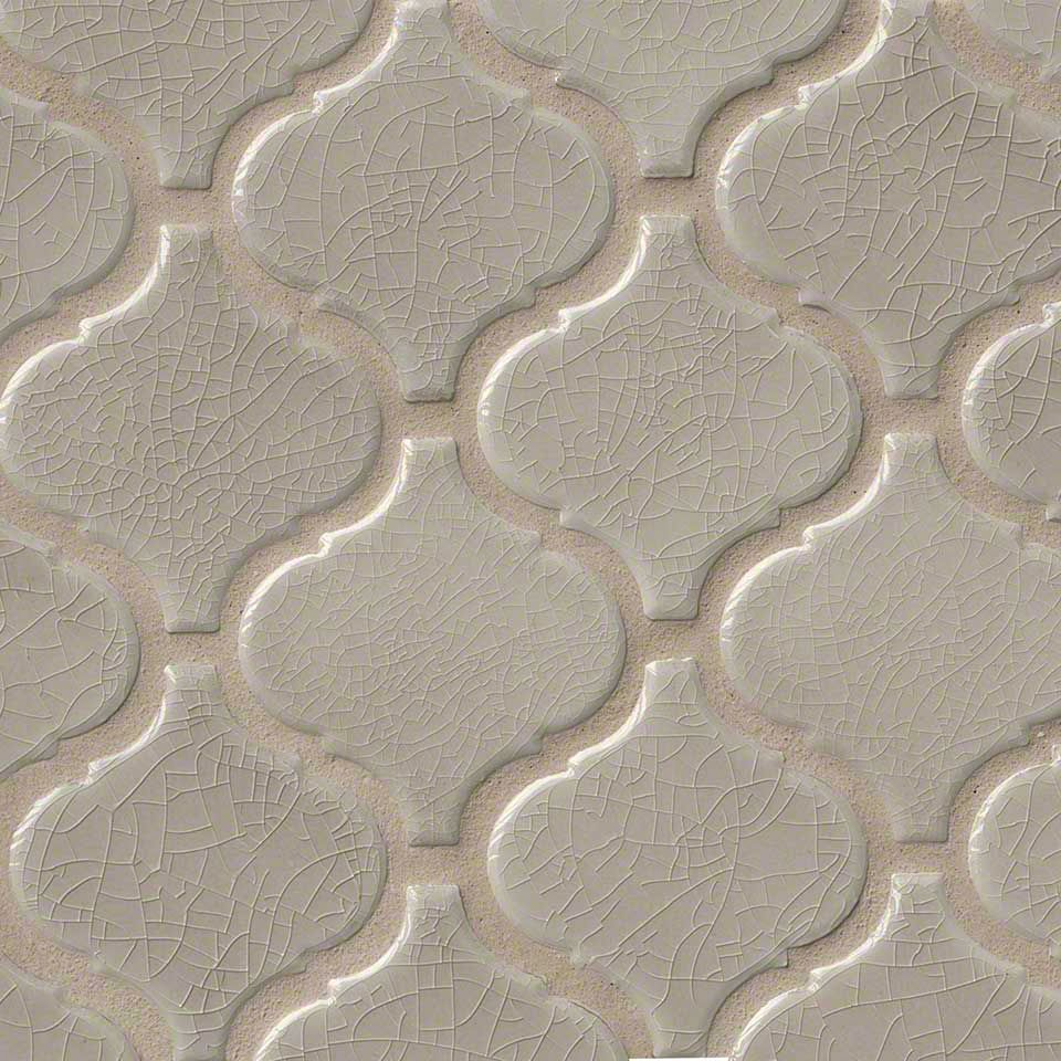 fluid and feminine fog arabesque offers a stunning look that was inspired by moroccan tiles - Arabesque Tile Backsplash