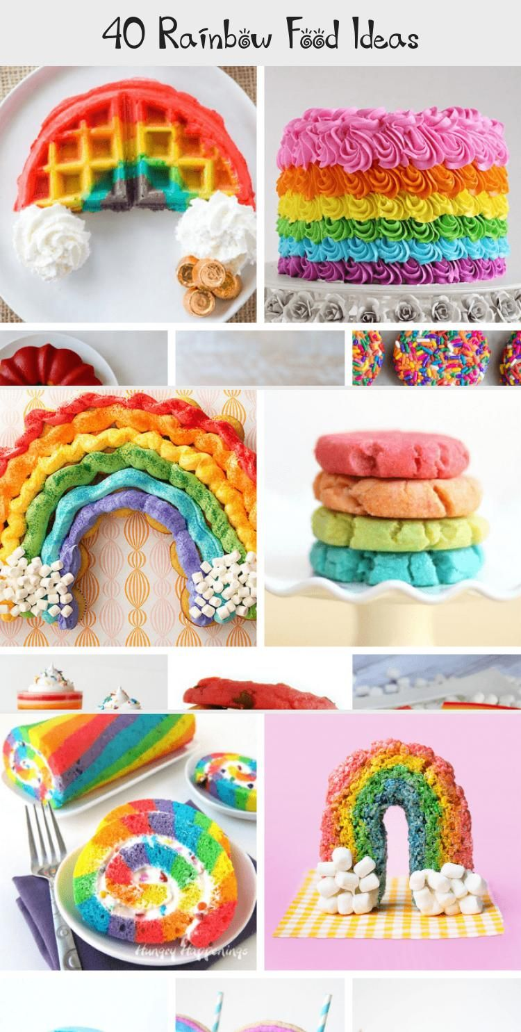Photo of 40 RAINBOW FOOD IDEAS: A roundup of rainbow treats, sweets, and eats, perfect fo…