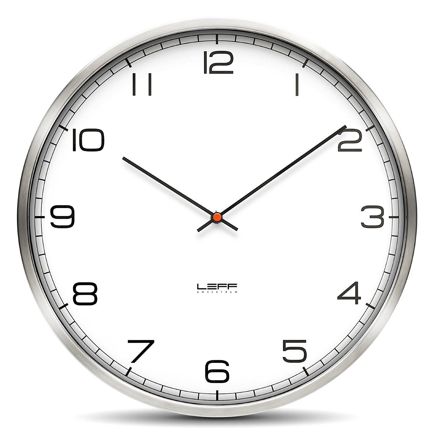 Wall Clock One25 Stainless Steel White Arabic * For More