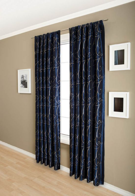 Perfect For My Navy And Tan Living Room Curtains Panel