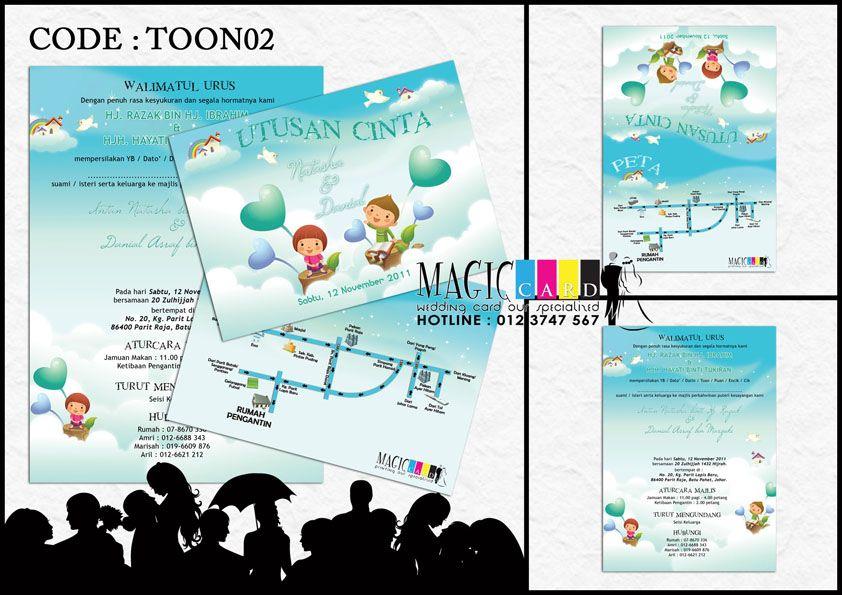 Rekaan Kad Kahwin Dalam Koleksi Cartoon Oleh Magiccard Enterprise Page 1 2 Cartoon Kad Kahwin Map