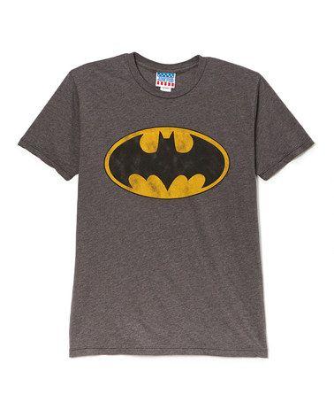 Another great find on #zulily! Gray Batman Logo Tee - Men #zulilyfinds