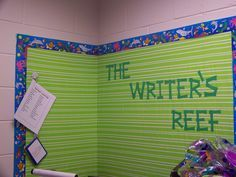 beach bucket on classroom wall | ... . On the wall is a set of papers that have highly used words on them