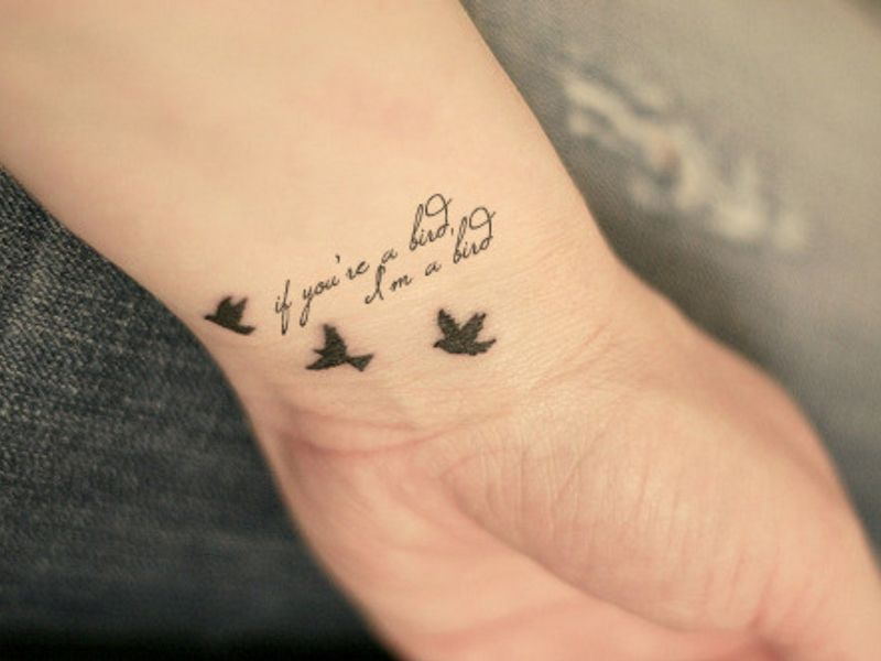 45 Unique Small Wrist Tattoos For Women And Men Simplest To Be Drawn Bird Tattoo Wrist Wrist Tattoos Cute Little Tattoos
