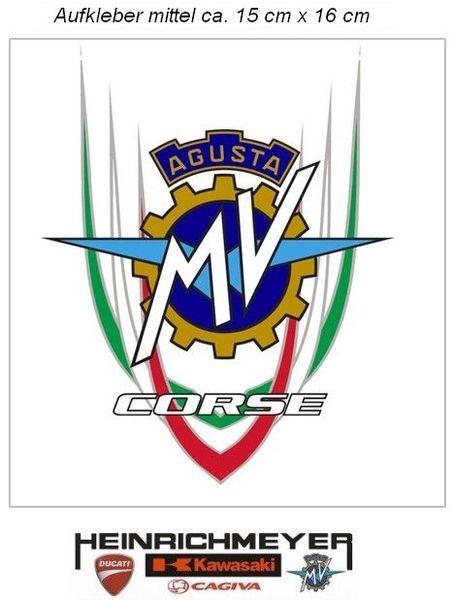 myrockshirt Motorradaufkleber MV Agusta Corse Corse Schriftzug ca.30cm Aufkleber Sticker Decal Profi-Qualit/ät ohne Hintergrund Bike Tuning