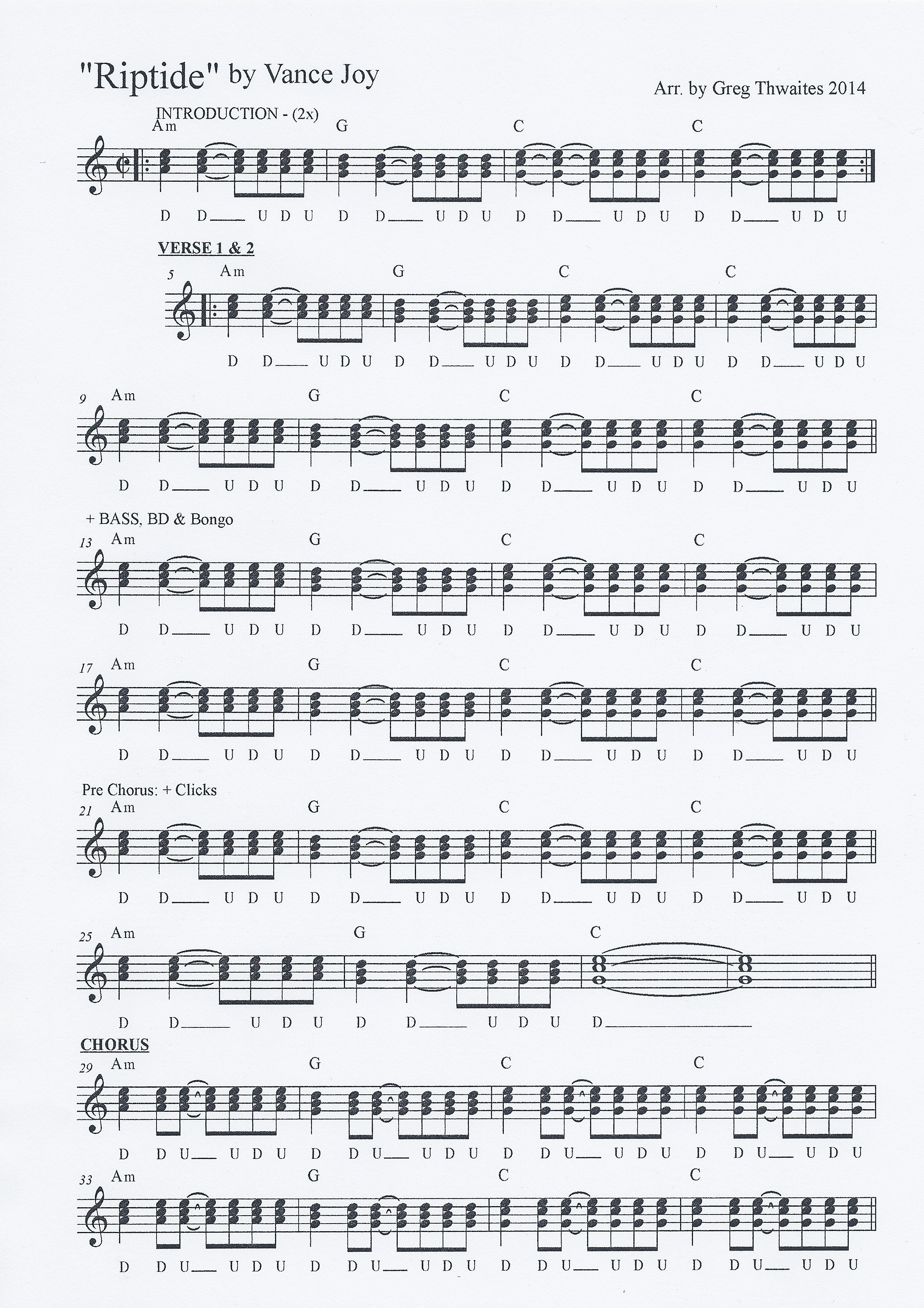 Riptide Piano Sheet Music With Letters Poemsview