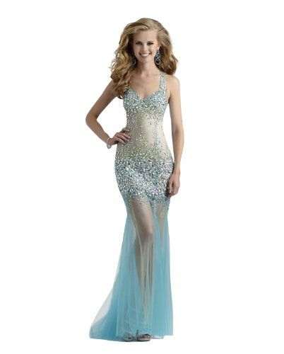 Long Sheer Mermaid Couture Prom and Pageant Dress 4304 | Prom ...