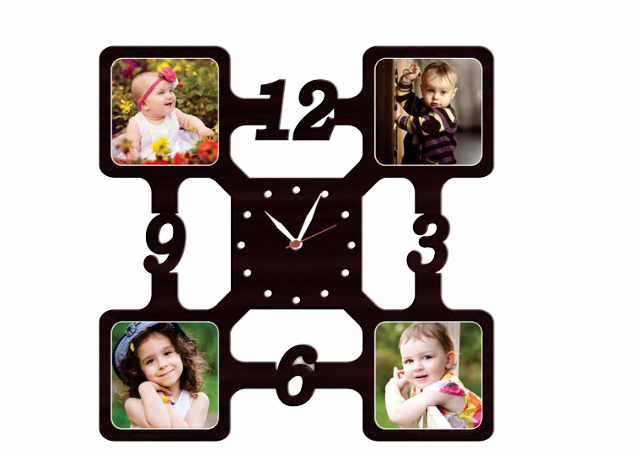 Personalized Wall Clock Collage Frame