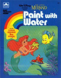 The Little Mermaid Paint With Water Mermaid Books Coloring Books The Little Mermaid