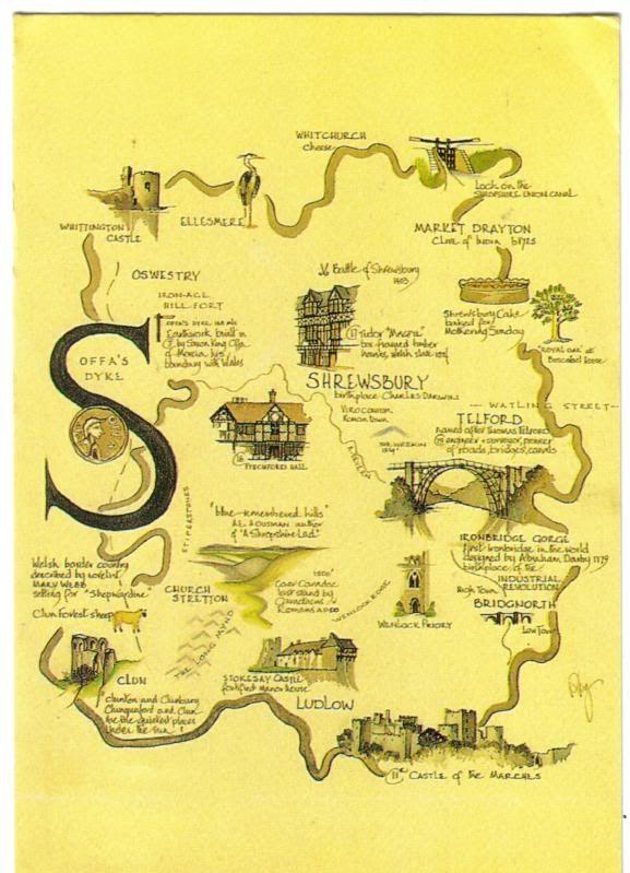 Map of Shropshire | Shropshire | England map, Shrewsbury shropshire ...