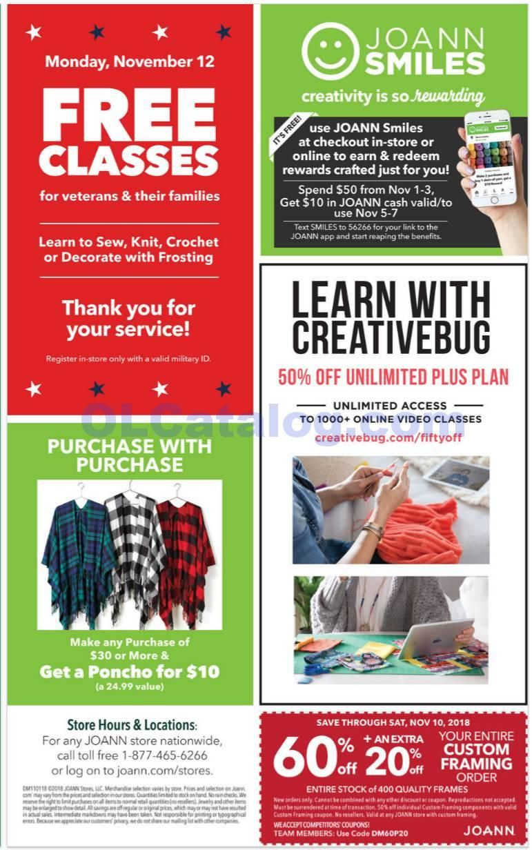 Joann Weekly Ad November 1 10 2018 Do You Know What S In And What S Hot In The Jo Ann Fabric And Craft Stores For This Week If You Haven T Using The Store