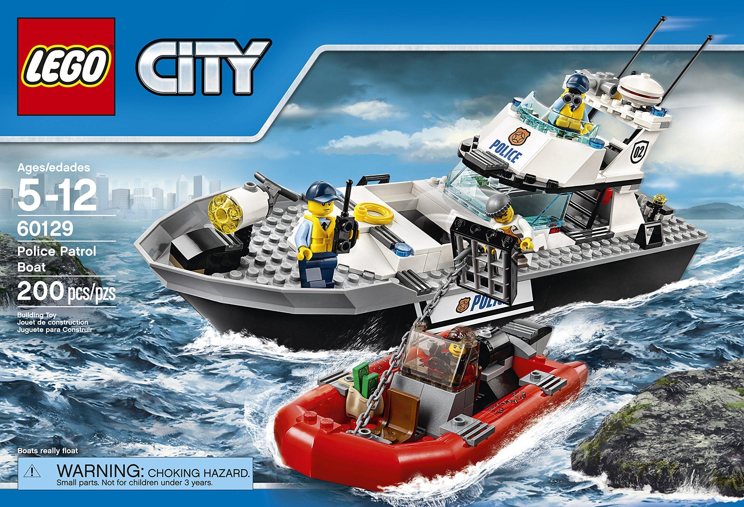 Amazon Com Lego City Police Patrol Boat 60129 Toys Games Lego City Police Lego City Lego City Sets
