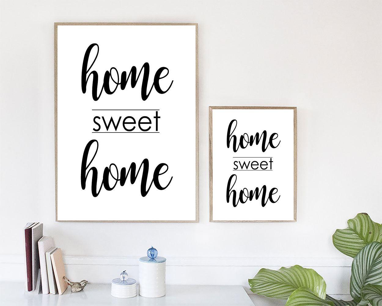 Wall Art Home Sweet Home Digital Print Home Sweet Home Poster Art