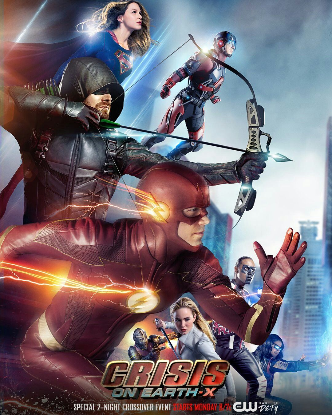 Supergirl The Flash Arrow Legends Of Tomorrow Crossover Poster