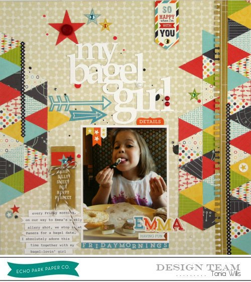 """My Bagel Girl layout feauturing """"That's my Boy"""" by Tania Willis #echoparkpaper"""