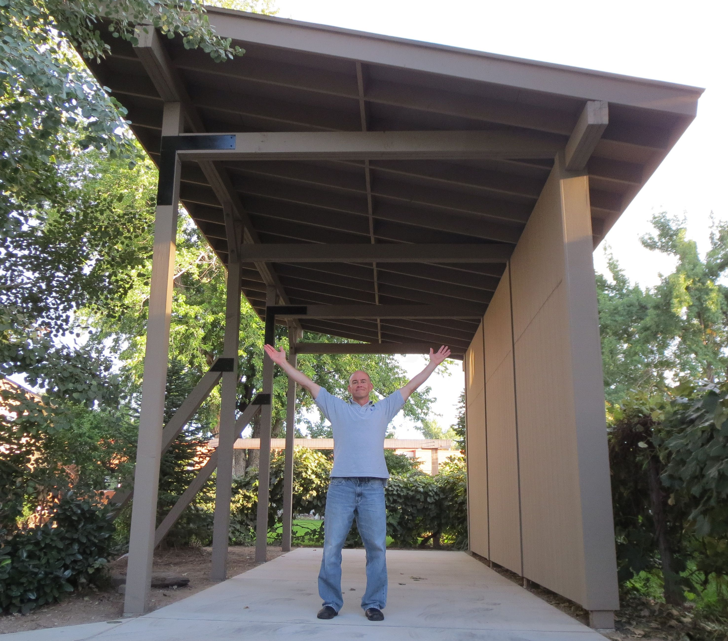 We finally finished the rv carport loversiq pavillions for Rv port designs