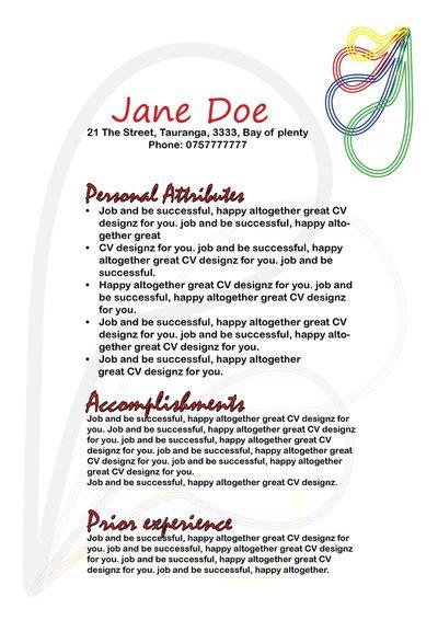 cv from cv designz co nz resume teaching cv cv pinterest