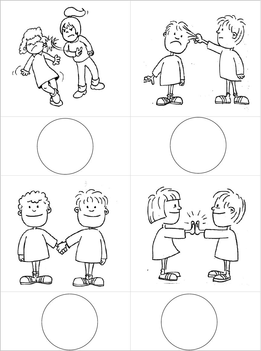 Emotionen - Arbeitsmaterial - Elegir Accion Buena - Mala | chování ...