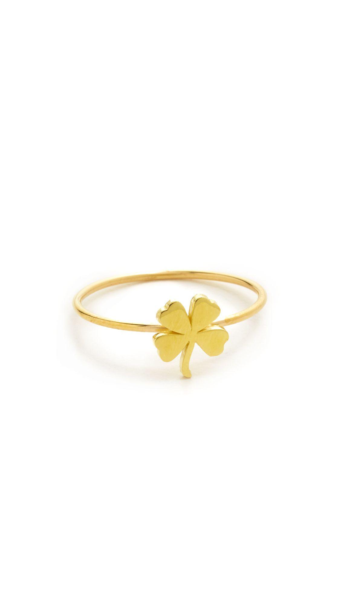 Jennifer Meyer 18k Gold Mini Clover Ring VemkprQ
