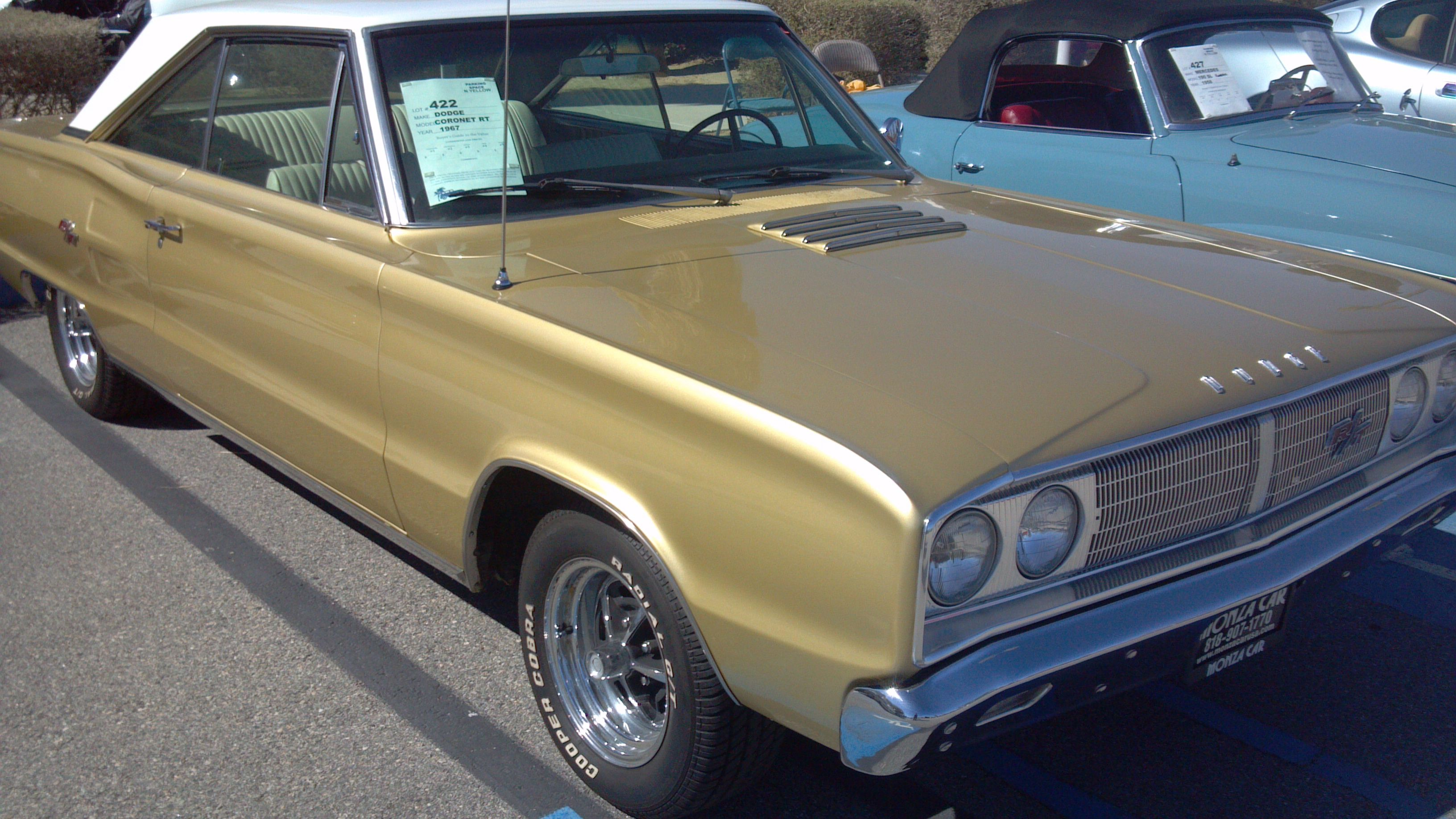 medium resolution of 1967 dodge coro rt with a 383 in gold white vinyl top